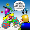 Cartoon: I like that in a woman (small) by toons tagged clowns circus relationships fools dating online facebook amusement performer comedian
