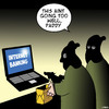 Cartoon: Internet banking (small) by toons tagged internet,banking,laptops,bank,robbers,stealing
