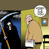 Cartoon: its for you (small) by toons tagged death,apocalypse,marriage,funeral