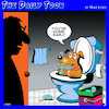 Cartoon: Jacuzzi (small) by toons tagged dogs,jacuzzi,mans,best,friend,beer,bad,toilet,animals