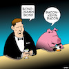 Cartoon: James Bond (small) by toons tagged james,bond,kevin,bacon,pigs,swine,hollywood,actors