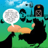 Cartoon: Just got laid (small) by toons tagged farm,animals,chickens,chooks,eggs,sex,free,range