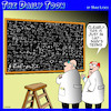 Cartoon: Layman terms (small) by toons tagged scientists,laymans,terms,blackboard,equations,research,scientific