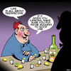 Cartoon: Life gives you lemons (small) by toons tagged tequila,optimism,half,full,glass,lemons,perspective