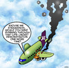 Cartoon: Life jacket demonstration (small) by toons tagged airlines,plane,crash,life,jacket,demonstration,stewardess,pilots