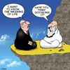 Cartoon: meaning of life (small) by toons tagged the,meaning,of,life,guru,swami,soothsayer,future