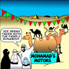 Cartoon: mohamads motors (small) by toons tagged mohamad,cars,car,sales,vehicles,suv,arabs,desert,camels,animals