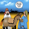 Cartoon: My Ass (small) by toons tagged donkey,ass,arse,mary,and,joseph,big,bum