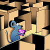Cartoon: Navigation system (small) by toons tagged sat,nav,gps,navigation,system,lab,rat,mice,maze