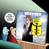Cartoon: Not good (small) by toons tagged weather,life,jacket,rain