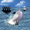 Cartoon: out of ten (small) by toons tagged whales,breaching,whale,marine,life,diving