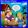 Cartoon: Outdoorsy type (small) by toons tagged blind,date,beer,garden,mismatch,online,profile,outdoors,type