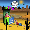 Cartoon: paper or plastic (small) by toons tagged drinking,marooned,desert,lost,environmental