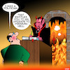 Cartoon: Politician in hell (small) by toons tagged politicans,hell,professions,devil,lawyers,premium,upgrade