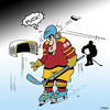 Cartoon: Puck (small) by toons tagged ice,hockey,swearing,puck