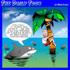 Cartoon: Rising sea levels (small) by toons tagged sharks,cuisine,global,warming,sea,levels,melting,ice,caps,shark,attack