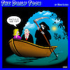 Cartoon: River Styx (small) by toons tagged angel,of,death,tipping,styx,scythe,afterlife