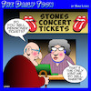Cartoon: Rolling Stones (small) by toons tagged the,stones,pensioners,aging