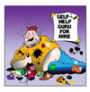 Cartoon: self help guru (small) by toons tagged self,help,groups,guru,personal,trainer,fitness,tramps,gyms,obesity,fat