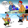 Cartoon: Shoplifting (small) by toons tagged phone,sales,shoplifting,swiping,stealing,ipads,touchscreen,technology