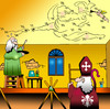 Cartoon: Sistine Chapel (small) by toons tagged sistine,chapel,michaelangelo,leonardo,de,vinci,pope,priest,artist,painter,church,angels,god,religion,rome,cardinal