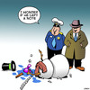 Cartoon: Snowman suicide (small) by toons tagged snowman,hairdryer,suicide,police,detective,depression,note
