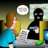 Cartoon: Stuff up (small) by toons tagged stick,up,stuff,bank,robber,crooks,shopping,list,hold