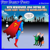 Cartoon: Superman (small) by toons tagged superman,uber,newspaper,reporters,transport,media,jobs,clark,kent,moonlighting,part,time,job,taxi,cabs