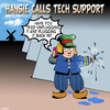 Cartoon: Tech support (small) by toons tagged finger,in,dyke,windmills,little,boy,and,the,clogs,holland,flooding,tech,support