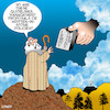 Cartoon: Ten commandments (small) by toons tagged company,policy,ten,commandments,moses,god,bible,story,management,guidelines,policies
