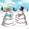 Cartoon: The Abominable Snowman (small) by toons tagged snowman,carrots,rude,penis,abominable,disgusting,crude