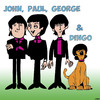 Cartoon: The Beatles (small) by toons tagged pop,groups,the,beatles,dingos,dogs,australian,animals