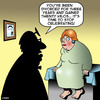 Cartoon: The divorcee (small) by toons tagged celebration,overweight,obese,too,much,fun