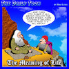 Cartoon: The Hokey Pokey (small) by toons tagged meaning,of,life,guru,enlightenment,hokey,pokey