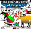 Cartoon: the other days (small) by toons tagged christmas,santa,reindeers,holidays