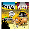 Cartoon: the salsd bar (small) by toons tagged romans,christians,colloseum,lions,and,rome,religion,christianity,salad