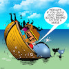 Cartoon: Top heavy (small) by toons tagged noahs,ark,whales,bible,stories,animals