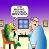 Cartoon: trouble breathing (small) by toons tagged doctor,fish,vet,surgery,nurse,medical