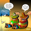 Cartoon: Trumps wall (small) by toons tagged donald,trump,mexican,wall,no,way,jose,mexico,president