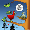 Cartoon: Tweet (small) by toons tagged twitter,tweeting,social,networking,facebook,communication,broadband,mobile,phone,birds,animals,relationships