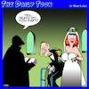 Cartoon: Until death do us part (small) by toons tagged wedding,gold,digger,rich,old,men,widow
