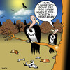 Cartoon: vegetarian (small) by toons tagged vegetarian,vultures,carion,birds,eating,carkass,food,dining,restaurants,vegan