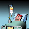 Cartoon: Vodka infusion (small) by toons tagged vodka,alcohol,alcoholic,dependency,hospital,drunk,drinking