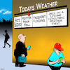 Cartoon: Weather forecast (small) by toons tagged climate,change,weather,conditions,forecasters,floods,extreme,global,warming