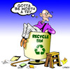 Cartoon: worth a try (small) by toons tagged recycle recycling environment old age ecology pension soylent green planet earth day garbage renewable energy carbon footprint fossil fuel