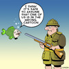Cartoon: wrong cartoon (small) by toons tagged hunting,fishing,big,game,fish,shotgun,underwater,cartoons
