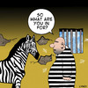 Cartoon: Zebra convict (small) by toons tagged zebra,jail,convict,con