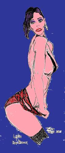 Cartoon: Ka Boom (medium) by Toonstalk tagged model,sexy,lingerie,erotica,sensual,blue