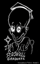 Cartoon: The Graduate (small) by Toonstalk tagged inverted black white alien grad roswell