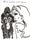 Cartoon: THE LADIES LOVE MY....... (small) by Toonstalk tagged gorilla,dating,tattoo,sexy,girl,finish,the,line